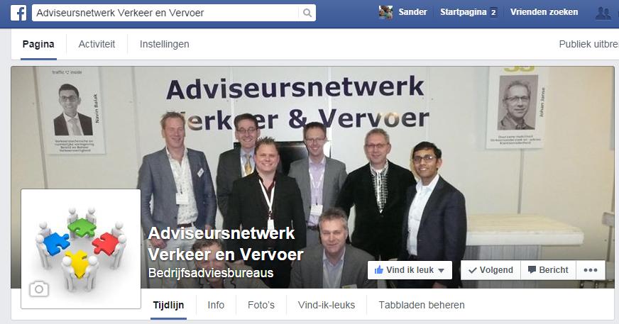 Het Adviseursnetwerk Verkeer & Vervoer ook op facebooek